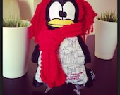 Fashion Miss Penguin customized with handmade scarf , Andre(Tin)A