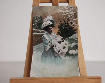 Antique Hand Painted 1920 Postcard. Made in Germany