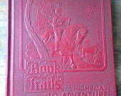 Book trails set of two 2 chikdrens story books, kids library, baby feet, highroad adventure red books
