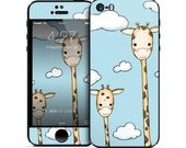 Protective Vinyl Decal for iPhone 5S Case Featuring Original Giraffe Illustration