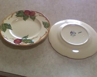 "Franciscan apple plates, pair, 7-3/4 "" , made USA,"