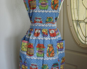 Canned Goods Motif Bib Style Apron