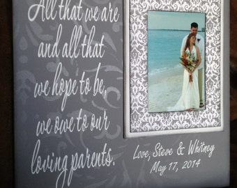 Wedding Rehearsal Gifts For Parents : Rehearsal Gift For Parents ~ Wedding Gift From Son ~ Wedding Gift ...