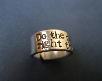 Do the Next Right Thing  ring
