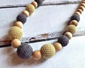 Brook Organic Nursing Necklace, Babywearing Necklace - Goosie Organics - Gift for New Mother - Teething Jewelry