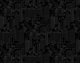 City Scapes on Black - Rush Hour Collection - Studio e 2771-99 (sold by the 1/2 yard)