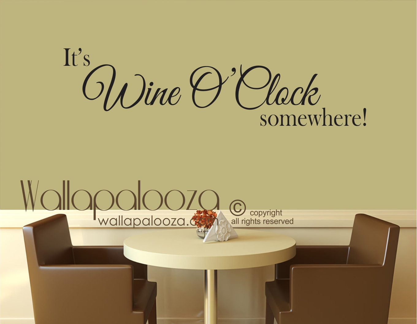 Wine wall art its wine o clock somewhere decal wine zoom amipublicfo Gallery