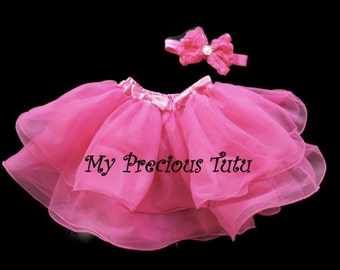 Pink Tutu Skirt, Dark Pink Tulle Skirt, Hot Pink Tutu Skirt by My Precious Tutu