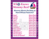 Girl Nautical Baby Shower Game, Who Knows Mommy Best Game, Pink Nautical Theme Baby Shower Game, Printable Girl Nautical Theme Shower Game