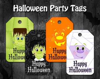 Halloween Party Tags - Instant Download