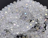36pcs 6x8mm Crystal AB Rondelles Swarovski Imit Crystal Clear AB Beads A Grade Diy Jewelry Beads & Beading Supplies Free Combined Shippin