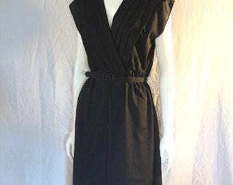 Vintage 80's Black Dress By Rue Jolie, Small