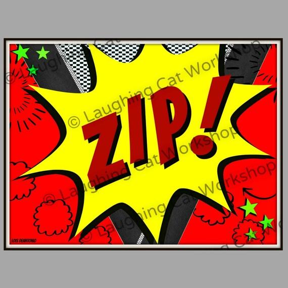 Batman Art Print Batman Art Poster Zip Pop Art