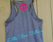 Monogrammed Racerback Tank-Monogrammed Gifts, Bridesmaids Gift, Personalized Tank Top, Personalized Gifts, Monogrammed Tank, Workout Tank