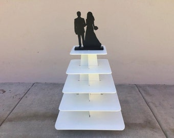 groom and bride cupcake stand five tiers