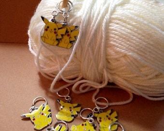 Pikachu Charm Stitch Markers (Set of 8)