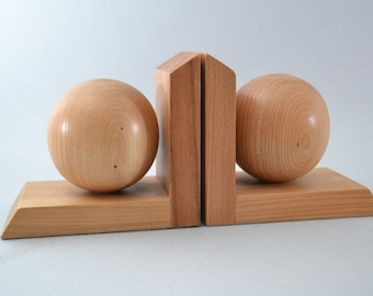 Stunning high quality  wooden bookends