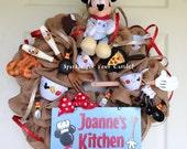 Burlap Kitchen Wreath Mickey Mouse Kitchen Wreath