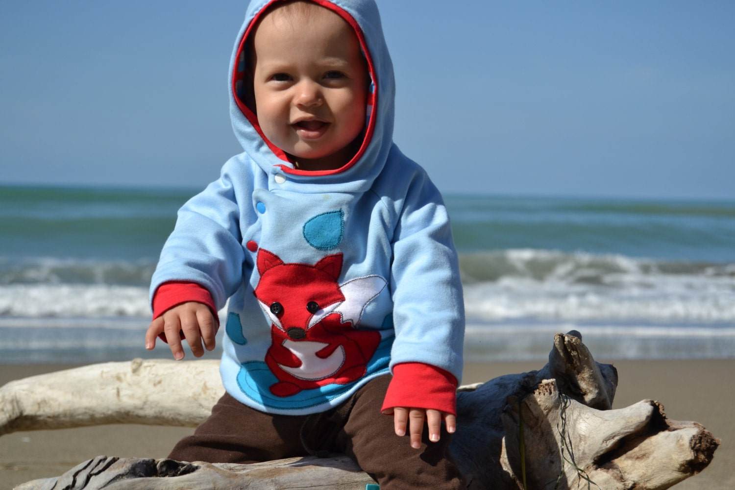 Baby boy fox hoo baby boy clothes for fall by BarvitoPosito