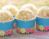 Peace Birthday Party-Snack Cups-Mini Popcorn Box-Set of 6