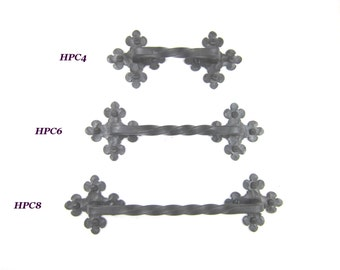 HPC series rustic Spanish style club twisted wrought iron cabinet pull hardware