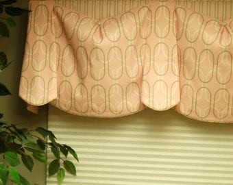 "Custom Valance BEV'S BLOUSE Hidden Rod Pocket Valance fits 47""- 66"" window, Window topper, Your fabrics, my labor and lining"