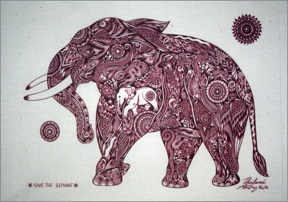 red traditional elephant - photo #35