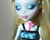 Monster High 'Classroom' Lagoona Blue Sleeping Custom Repaint