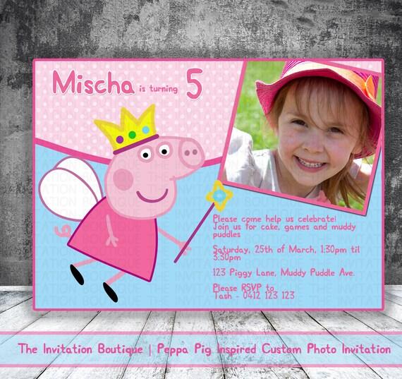 Peppa Pig Personalized Birthday Invitation By Partylandshop