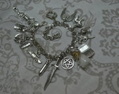 Supernatural related charm bracelet x5, x7, x9, x11, x15 or x19 charms