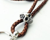 Leather lanyard - Necklace lanyard