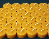Beewax Candles - 100% Pure Beeswax Tealight Refills -- 50 Pack -- Refills without the Cups!  Free Shipping