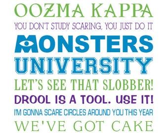 Disney inspirational movie quotes subway art 11x14 monsters university subway art 11x14 digital print voltagebd Choice Image