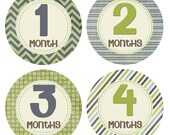 Boy Baby Month Stickers 1-12 Months Stickers Baby Milestones Baby Accessories Newborn Photo Props Month to Month Baby Shower Gift BMST006