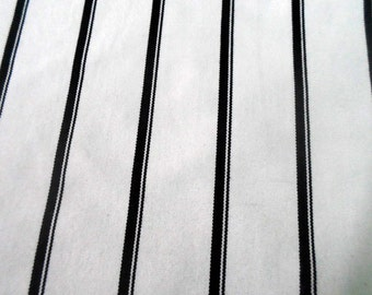Hand loomed textile in black and white stripes, upholstery fabric, canvas fabric, crafting fabric, craft supplies, fabric supplies, per yard