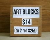 Two Art Blocks for 25 Bucks!