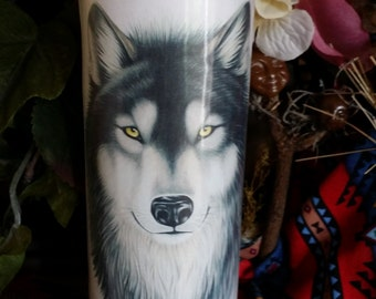 Wolf Totem, Voodoo, Hoodoo, Candle, Novena, Conjure, Loaded , Altar, Totem, Wiccan, Pagan,