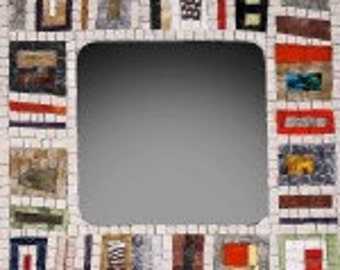 Square mirror mosaic