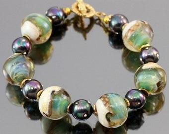 Lampwork Bracelet seashores
