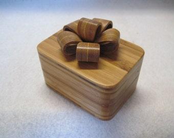 Engagement Ring Box    Bamboo