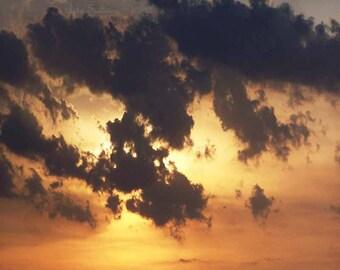 Dark Storm Sun Breaks Free 20x16 INSTANT DOWNLOAD