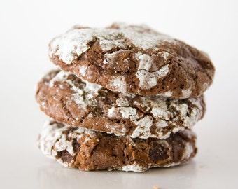 Peppermint Crinkle Cookies - 24 cookies