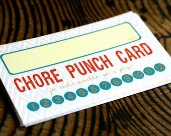 Printable Chore Punch Card