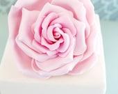 Gumpaste Large Rose Cake topper, cake decoration, edible fondant wedding cake topper for modern bridal cake topper, edible cake topper