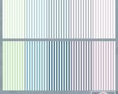 Succulent Stripes Digital Scrapbook Paper Pack