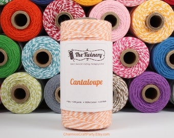 240 Yards of Twist Cantalope Orange Baker's Twine - String - Embellishment Packaging Craft Party Supplies