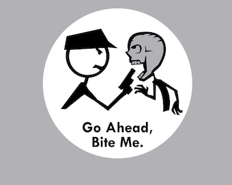 Go Ahead Bite Me Zombie Shirt