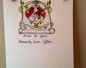 Custom Cinderella Wedding Card for Sarah