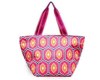 Personalized All for Color Large Everyday Tote:  Moroccan Tile TCMC6615