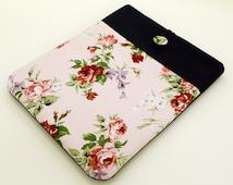 Pink Roses iPad Air sleeve, Shabby Chic iPad cover, Womens iPad sleeve, floral iPad cover, custom tablet sleeve , Kindle Fire HDX case